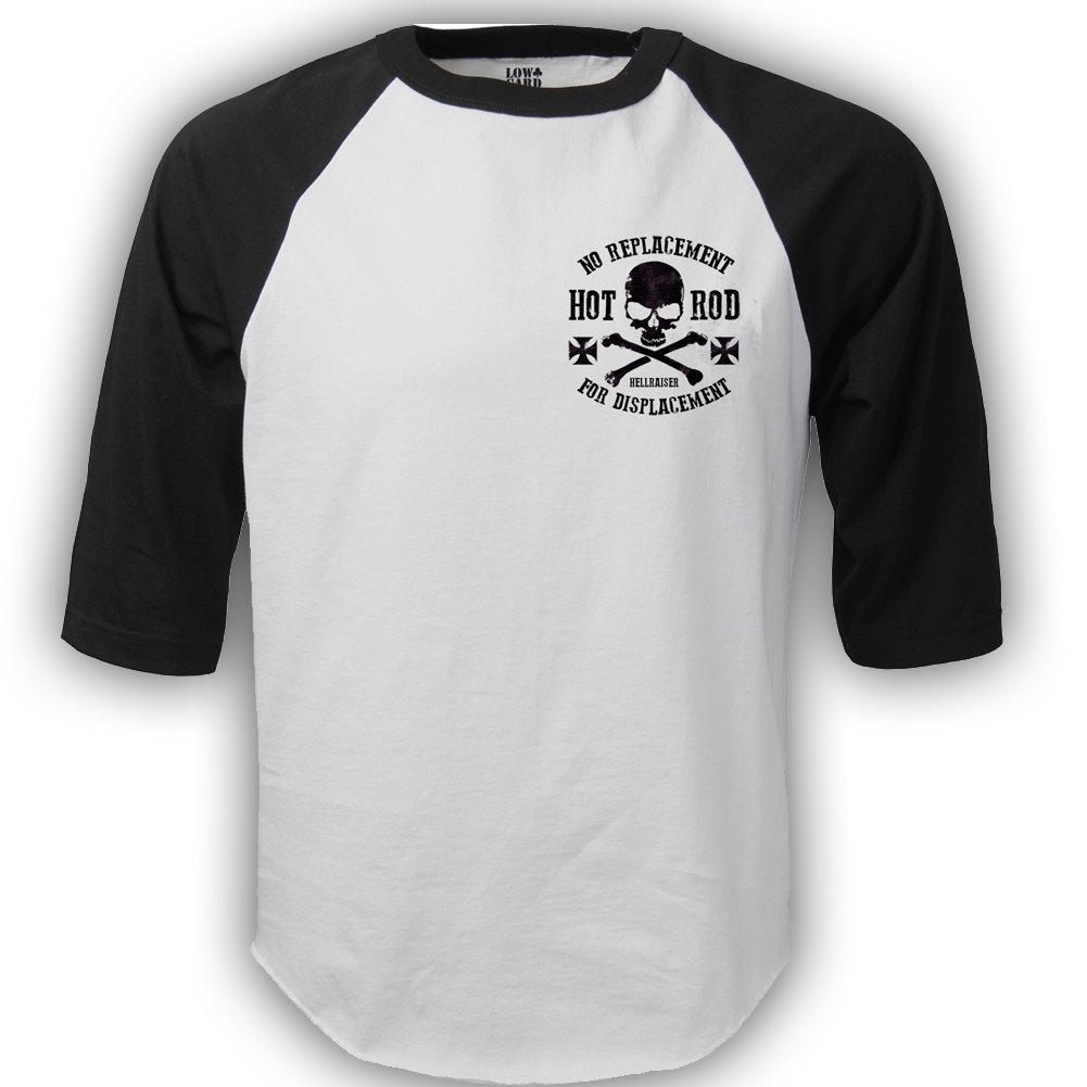 a6965e37d4b Dragstrip Clothing Men`s Biker Baseball Top Black  Amazon.co.uk  Clothing