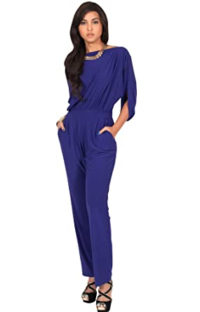 07927f226d Koh plus size womens short sleeve sexy formal cocktail casual cute long  pants one piece jpg
