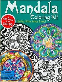 Mandala Coloring Kit (Dover Fun Kits): Dover: 9780486477145: Amazon ...