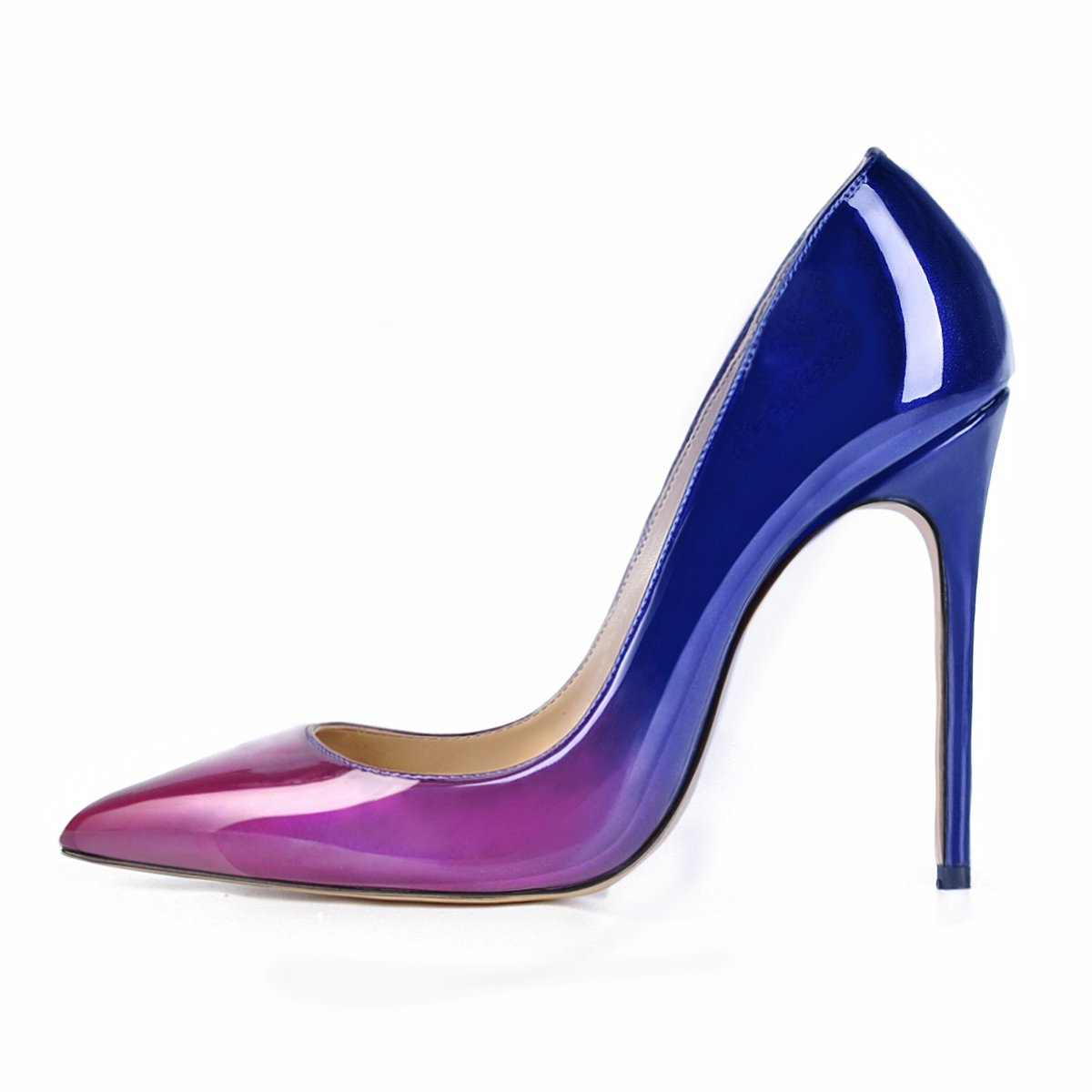 UMEXI Women's Peep Toe Chic Purple and Pumps Blue Multi Slip-on Stilettos High Heel Pumps and B06XXWFC65 Mary Jane a9dab6