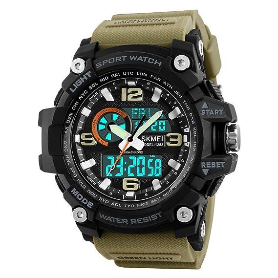 Reloj Deportivo Digital para Hombre, Relojes Militares Impermeables: Amazon.es: Relojes