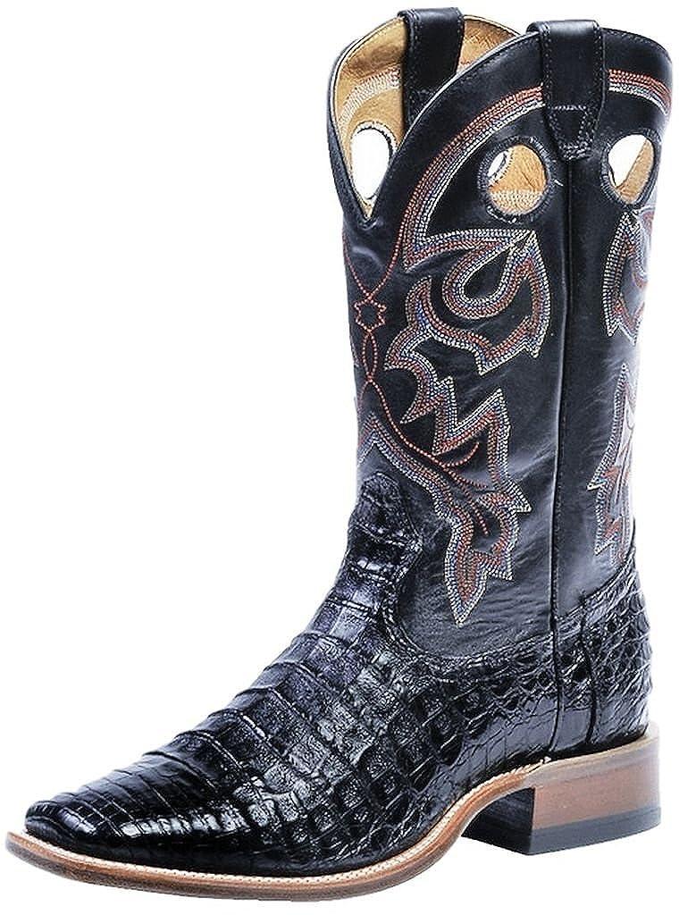 - Soul Rebel Stiefel Amerikanischen – Cowboystiefel Exotische Schlangenhaut (Kroko) bo-8514 – 65-e (Fuß Normal) – Herren – Schwarz