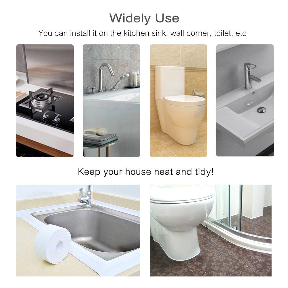 PE Bath and Shower Self Adhesive Caulk Strip, Tub and Wall Sealing ...