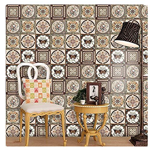 (perfectCOCO Tile Stickers Decals Waterproof Decorative Stair Riser Decals Self Adhesive Tile Art Wall Decal)