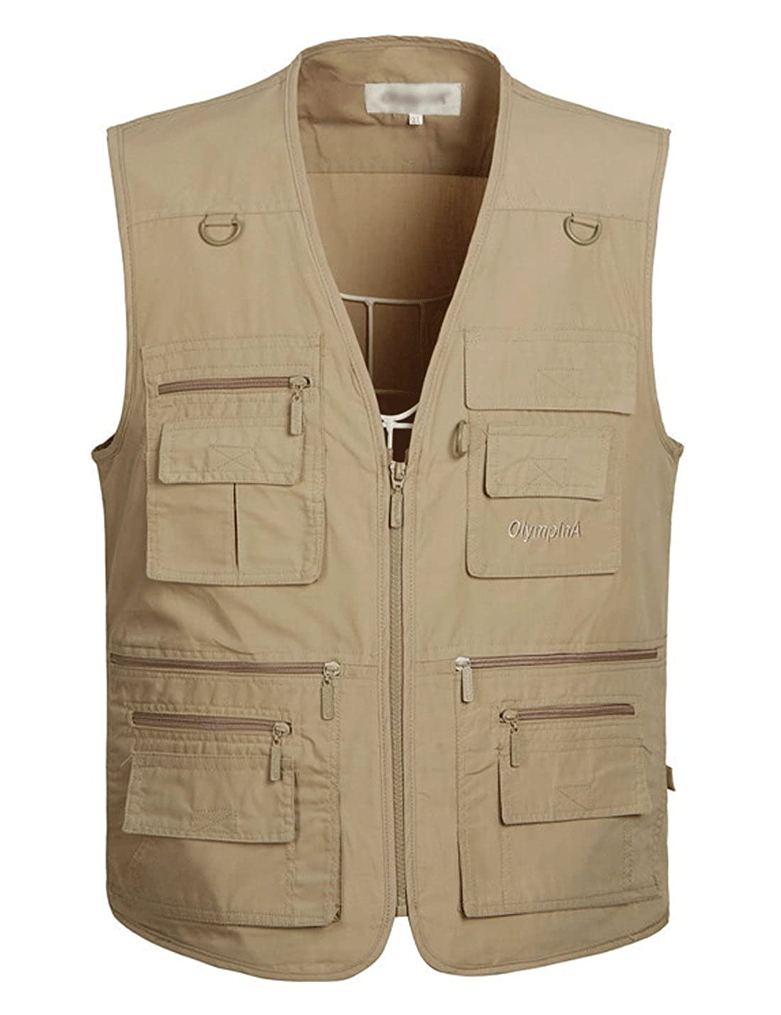 Yimoon Men's Summer Outdoor Pockets Lightweight Utility Fishing Travel Vest