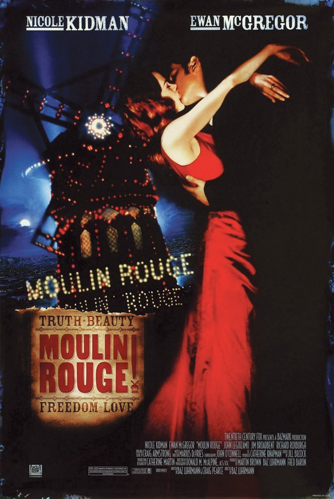 Poster Moulin Rouge, Movie 24in x 36in
