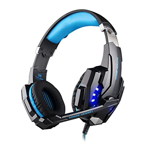Nuovo Cuffia Gaming 7.1  KingTop EACH G9000 Cuffie Gaming Auricolare  fascia con Mic Luce b2f992c91712