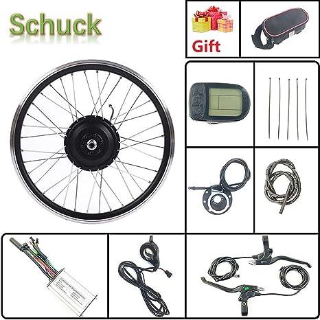 Schuck 36V 500W Kit de conversión de Motor de Bicicleta eléctrica de Rueda Delantera de 20 Pulgadas, Cubo de Bicicleta LCD KT-LCD5: Amazon.es: Deportes y aire libre