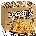 EasyGoProducts Eco-Stix Fatwood Fire Starter Kindling Firewood Sticks – Bulk Packaged