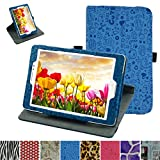 """Asus ZenPad S 8.0 Z580C Rotating Case,Mama Mouth 360 Degree Rotary Stand With Cute Lovely Pattern Cover For 8"""" Asus ZenPad S 8.0 Z580C Z580CA Android Tablet,Blue"""