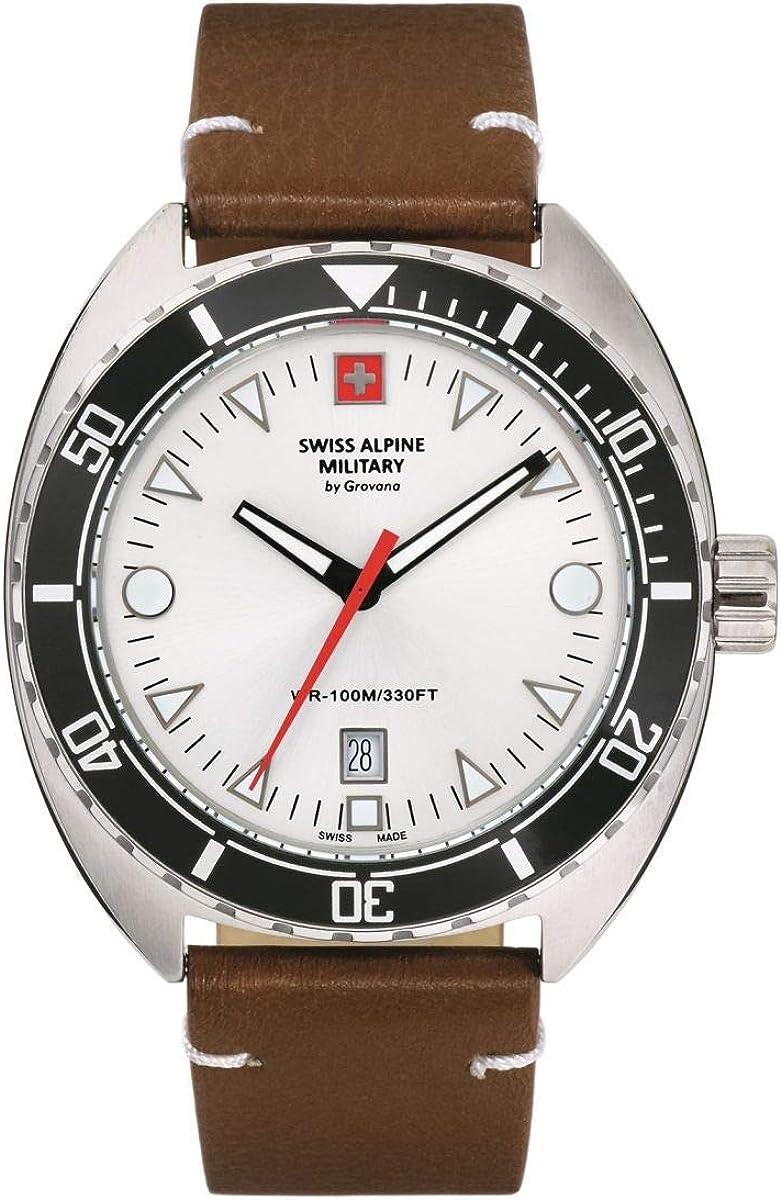 Swiss Alpine Military 7066.1 - Reloj de pulsera analógico para hombre (mecanismo de cuarzo)