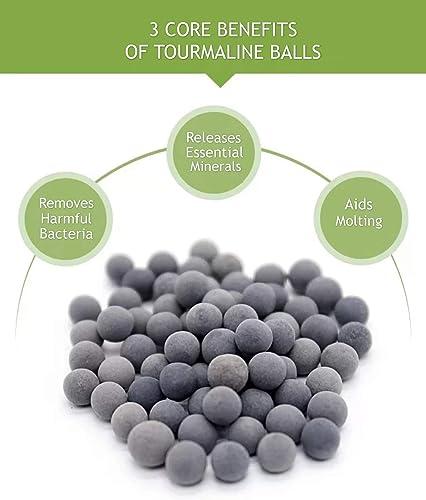 Tourmaline mineral balls for shrimp