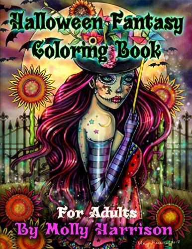 Halloween Fantasy Coloring Book For Adults: Featuring 26 Halloween Illustrations, Witches, Vampires, Autumn Fairies, and -