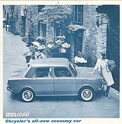 Amazon.com: 1964 Simca 1000 & Coupe Sales Brochure: Entertainment Collectibles