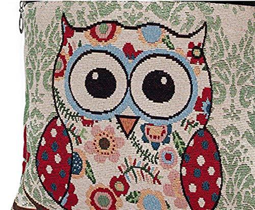 stampa tracolla Bohemian a Borsa Owl6 animato a con mano Dimensione in di stampata Stachel cartone unica tela gufo a per borsa tracolla Owl10 Colore con tracolla Taglia R6wn0qRf