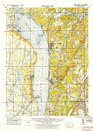 (YellowMaps Tarrytown NY topo map, 1:62500 Scale, 15 X 15 Minute, Historical, 1937, 21.22 x 15.05 in - Paper)