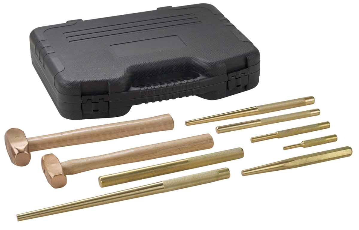 OTC 4629 9 Piece Master Brass Hammer and Punch Set by OTC