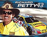 AUTOGRAPHED Richard Petty #43 Cheerios Racing (Betty Crocker) Nextel Cup Series Dodge Charger Hero Signed 8X10 Inch Picture NASCAR Hero Card Photo with COA