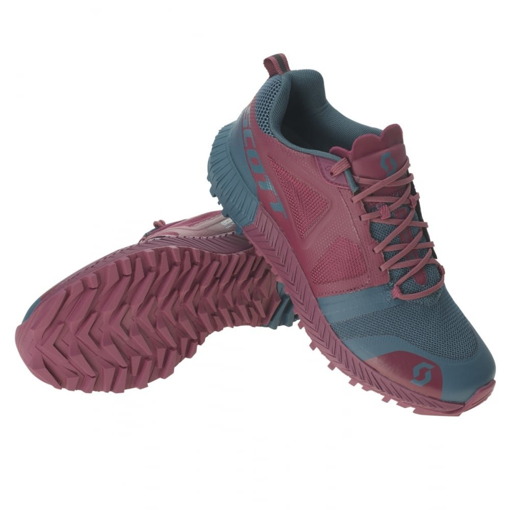 Scott Kinabalu Damen Trailaufschuhe gepolstert Rot Blau