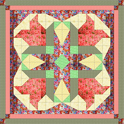 Quilt Kit Easter Blossom Stars/Pre Cut Ready To Sew/EXPEDITED SHIPPING by Material Maven