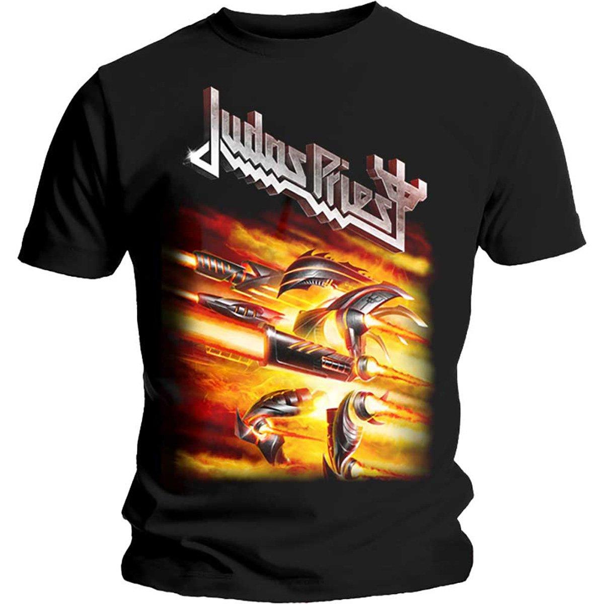 Tee Shack Judas Priest Firepower Rob Halford Heavy Metal Oficial Camiseta para Hombre: Amazon.es: Ropa y accesorios