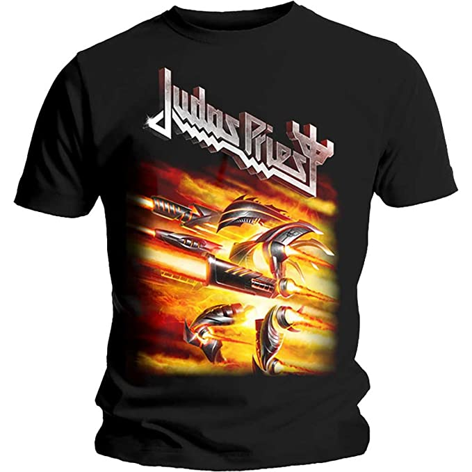 Tee Shack Judas Priest Firepower Rob Halford Heavy Metal Oficial Camiseta para Hombre (Small)