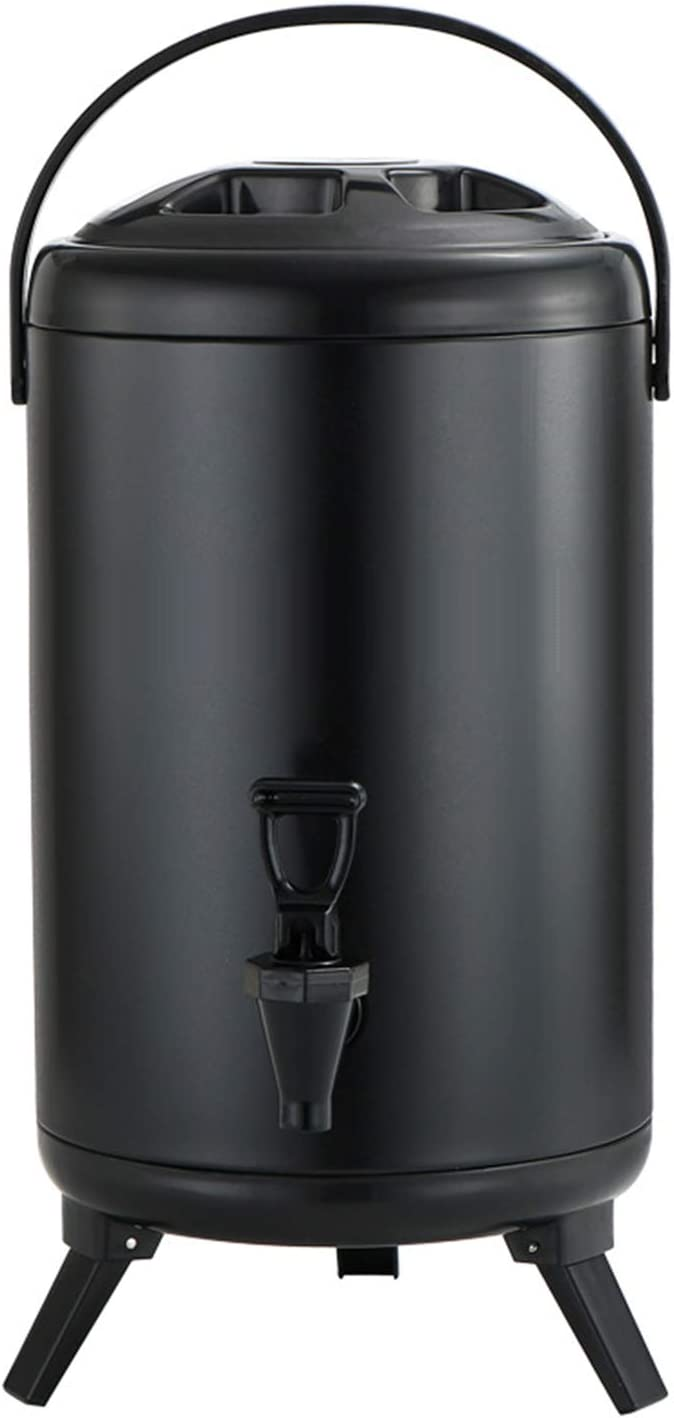 Stainless Steel Insulated Beverage Dispenser Insulated Thermal Hot and Cold Beverage Dispenser for Hot Tea & Coffee, Cold Milk, Water, Juice,Soup (12L / 3.17 Gallon)