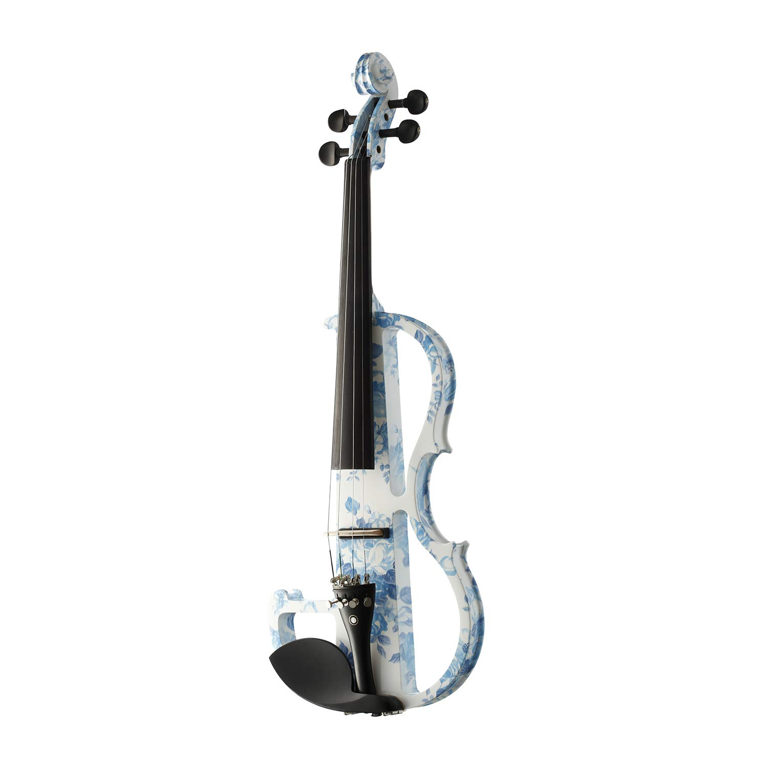 Gift Ideas For Gril/Women Leeche Solid Wood Electric/Silent Violin Ebony Fittings Full Size 4/4