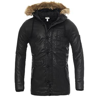 2c03e0e5acfb 96E2 adidas Herren Neo Winter Jacke Kunstleder S90298 Kunstfell Gr. XXL