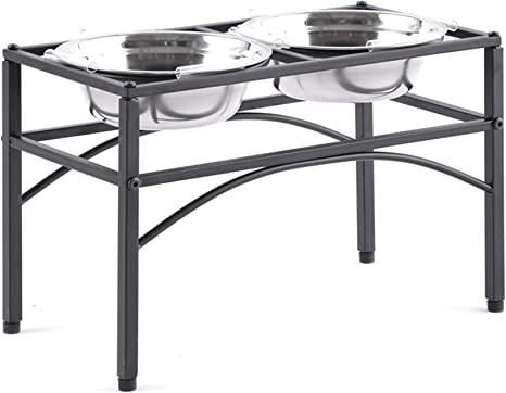 Elevated Bowls Gray and White 4 /& 2 Cup Wall Mounted Pet Dish Set Cat or Small Dogs Kitchen Dog Elevated  feeder Small