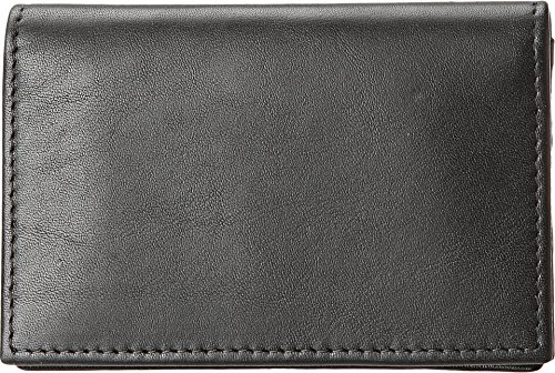 Bosca Nappa Vitello Full Gusset 2 Pocket Card Case with ID - Black Leather