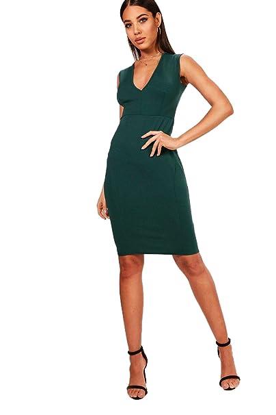 YourPrimeOutlet - Vestido - para mujer Verde verde botella 40