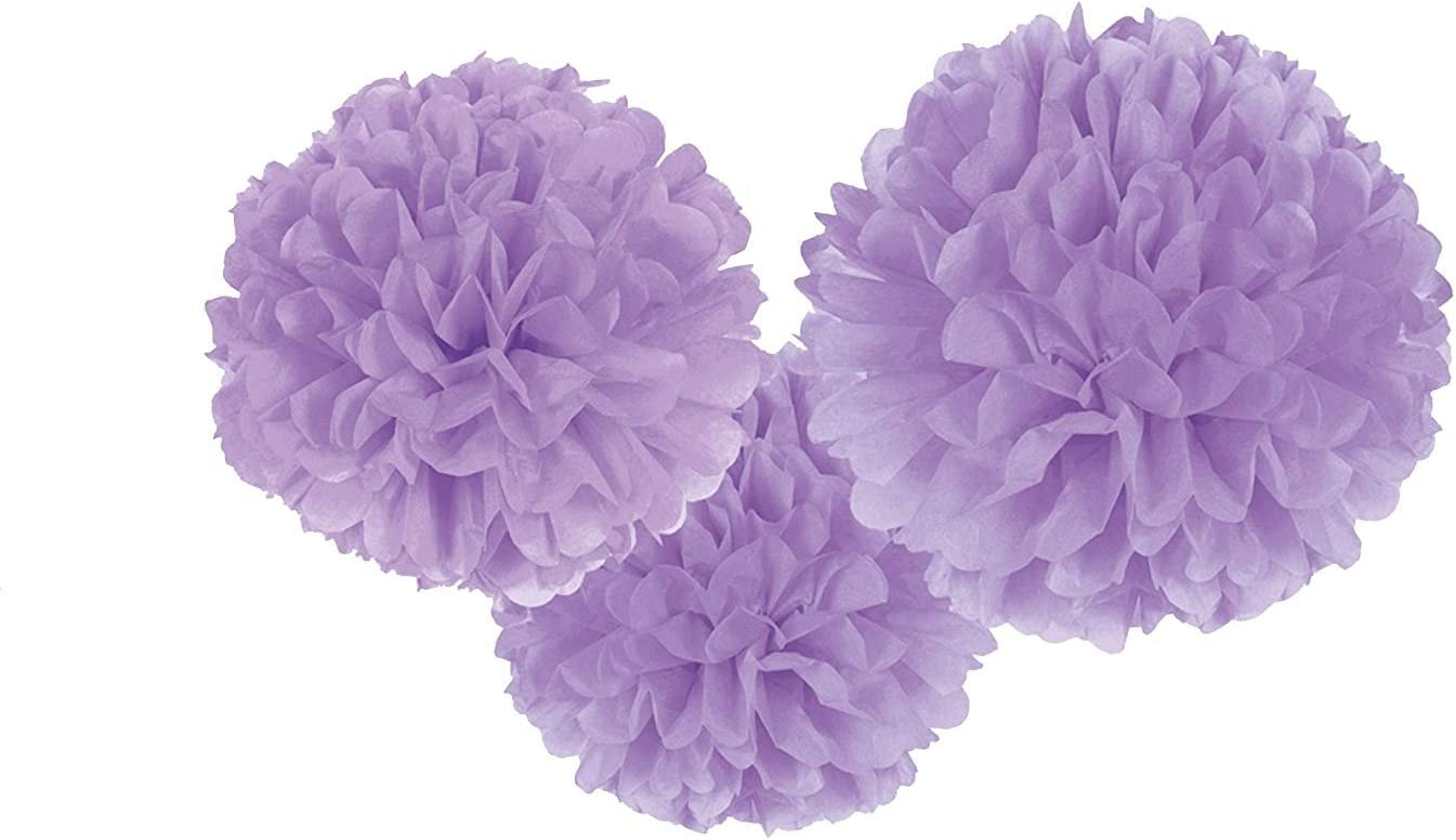 S-shine 16 Poms Large Fluffy Pom Pom Hanging Decorations Tissue Paper Pom Flowers For Celebrate Decoration Fluffy Hanging Lantern Party//Wedding Blooms Ball Lime Green 3ct by Unique Industries