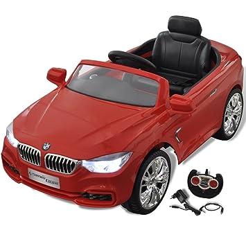 Vidaxl Coche Electrico Rojo Con Control Remoto Para Ninos Auto De