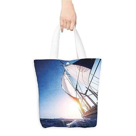 be4a1284034c Amazon.com: Travel Shoulder Tote Bag Boat in Acti Summer Adventure ...