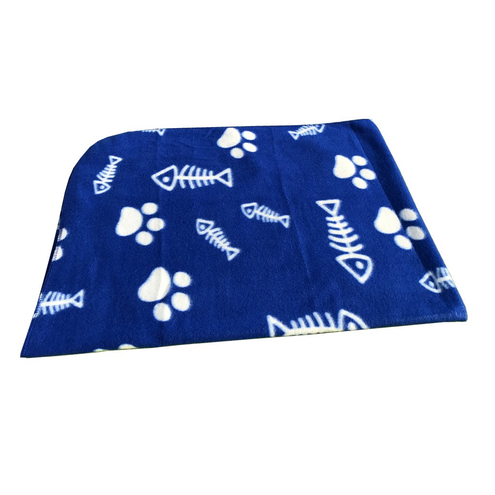 Pet Puppy Dog Blanket for Small Medium Large Dogs, 4 Pack - Red Blue Black Brown, Warm Soft Cozy Cat Dog Blankets and Throws Winter Pet Sleep Mat Pad Bed Cover with Paw Print (L - 32.3'' x 43.3'') by Joe's Home (Image #3)