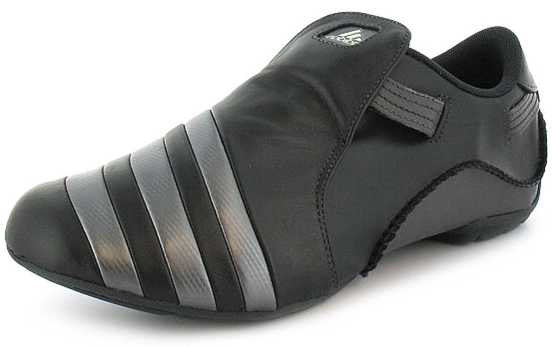 MensGents Black Adidas Mactelo Low Profile Soft Leather Trainers Black UK SIZES 6.5 12