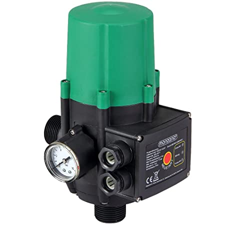 Monzana® Pumpensteuerung mit Baranzeige Druckwächter Druckschalter - Modell ohne Kabel - 10 bar - überwacht den Wasserdruck -