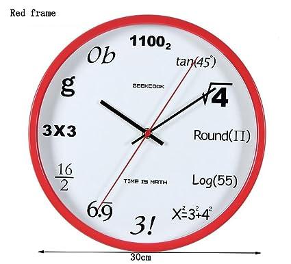 Global- de diámetro (30 cm) pulgadas Relojes 12 creativo reloj mudo digital de