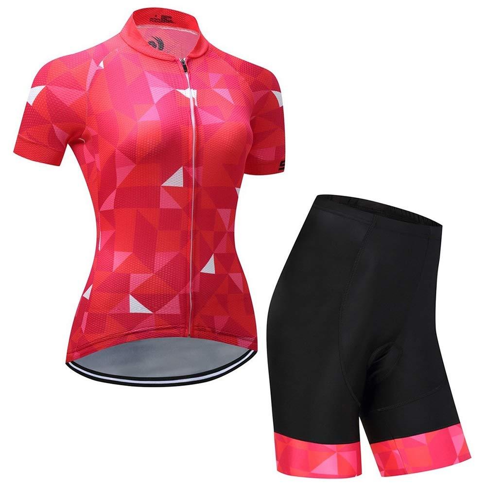 Respirante Combinaison Cycliste en Plein air for l/évacuation de lhumidit/é JTCT Combinaison de Cyclisme Veste /à Manches Courtes for Femmes /évacuation de lhumidit/é