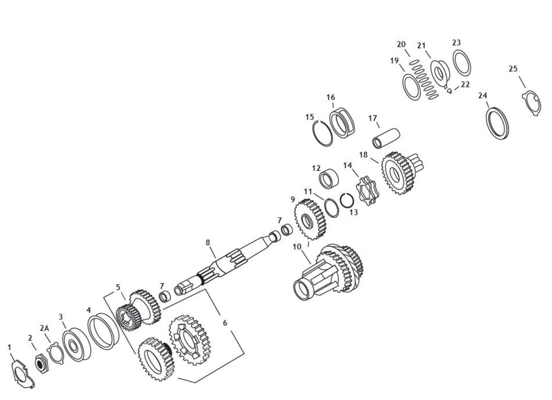 Andrews 4-Speed Transmission Mainshaft 208650