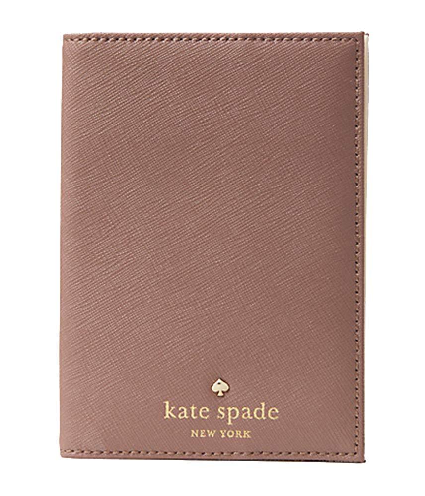 Kate Spade New York Mikas Pond Leather Passport Holder (Dusk Citiscape)