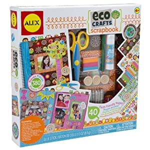 ALEX Toys Craft Eco Crafts Scrapbook - 61ztYjaQ65L - Alex Craft Eco Crafts Scrapbook Kids Art and Craft Activity