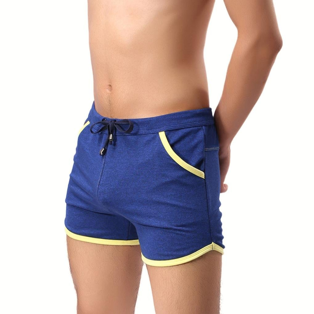 7b4c52a088 Aurorax Men's Swim Trunks Cotton Basic Watershorts Beach Shorts - [Slim Fit  Quick Dry Shorts] - Drawstring Waist | Amazon.com
