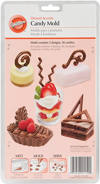 Candy Mold-Dessert Accents 10 Cavity (5 Designs)