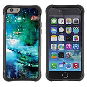Hybrid Anti-Shock Defend Case for Apple iPhone 6 plus Inch / Cool Sci Fi Future City