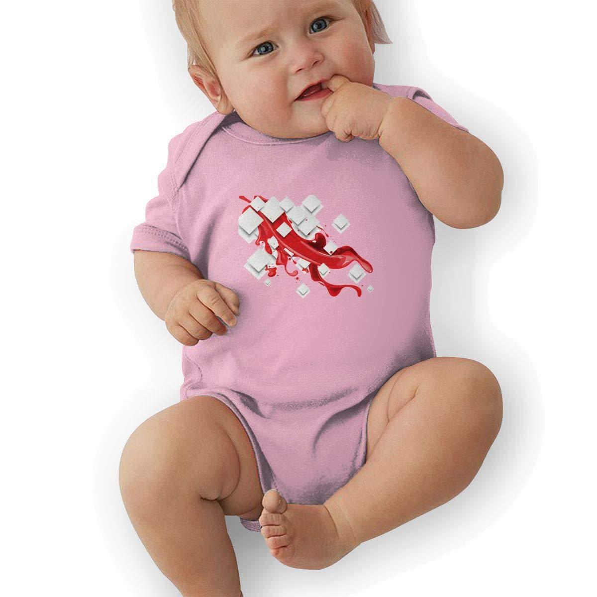 Newborn Baby Boys Bodysuit Short-Sleeve Onesie Creative Fashion Text Print Outfit Winter Pajamas