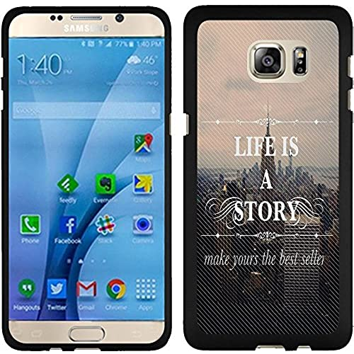Samsung Galaxy S7 Case, Slim Fit Hard Phone Cover Case by URAKKI - Samsung Galaxy S7 G930 [Life is a Story Text Sales