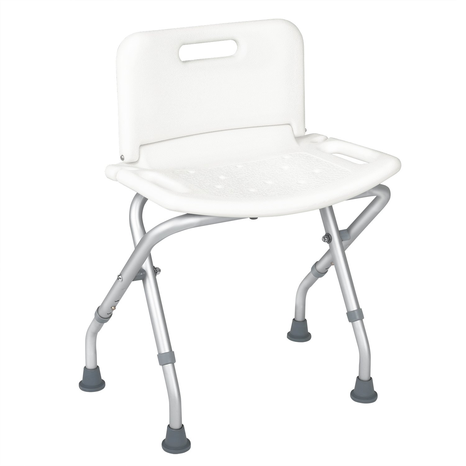 JCMASTER Folding Shower Chair with Back for Disabled durable service ...