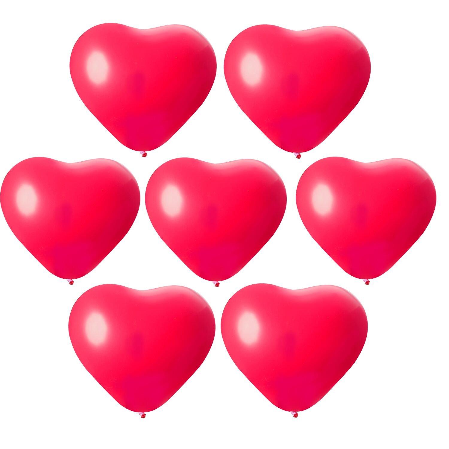 Globos de Corazón Rojo – Meersee 100 Globos de Latex Con Forma de Corazon con Bomba y 6 Cinta Corazón Globos para Fiesta de Cumpleaños (corazón)